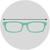 Breite Brillengestell