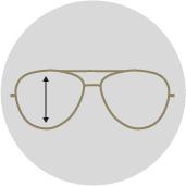Höhe Brillengestell