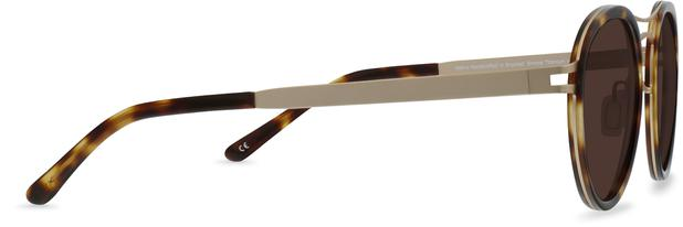 Norio | Brushed Bronze Titanium with Moonlight Tortoise 2