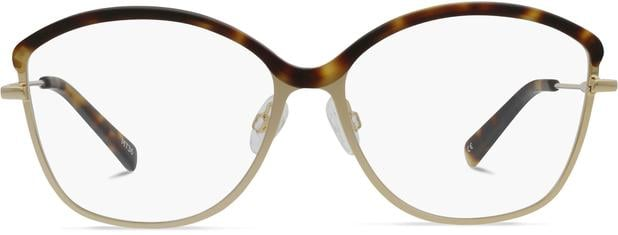 Grace K. | Light Gold Metal with Matt Moonlight Tortoise