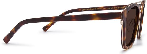 Clayton | Platinum Silver Metal with Matt Moonlight Tortoise 3
