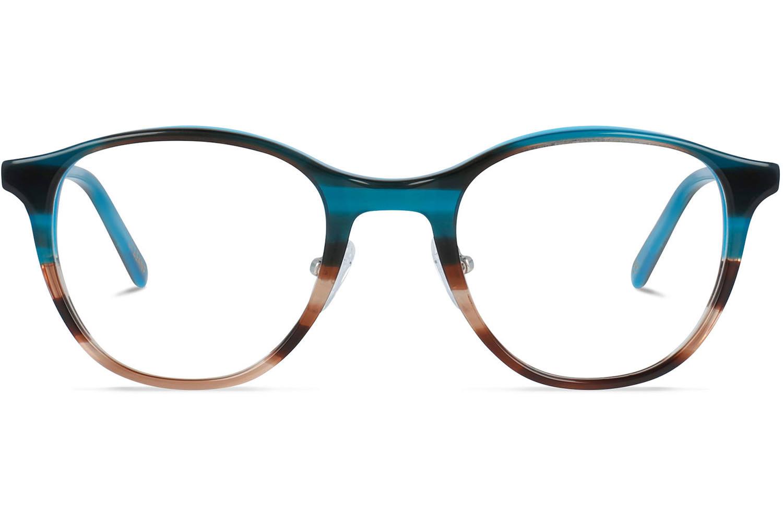 Airin | Azure Fades Havana Bril inclusief glazen op sterkte