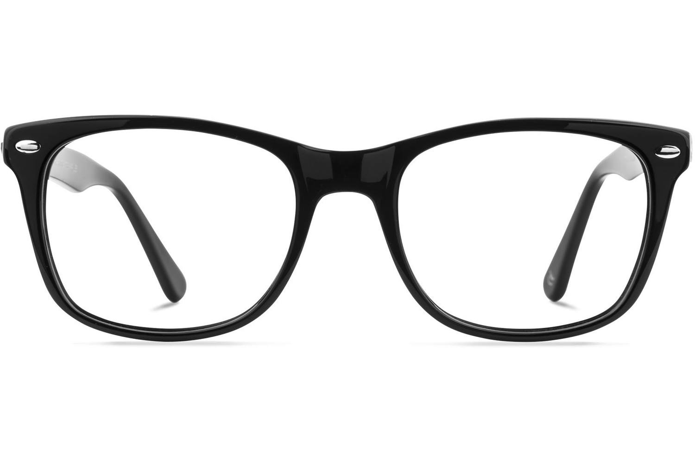 Charlie | Jet-Black Bril inclusief glazen op sterkte
