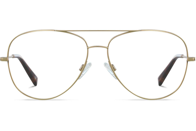 Van Charlie Temple Maverick | Brushed Gold Titanium Bril inclusief glazen op sterkte Prijsvergelijk nu!
