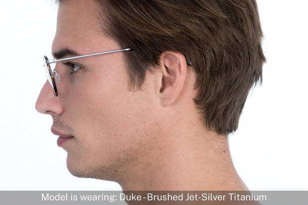 Duke | Brushed Jet Silver Titanium 6