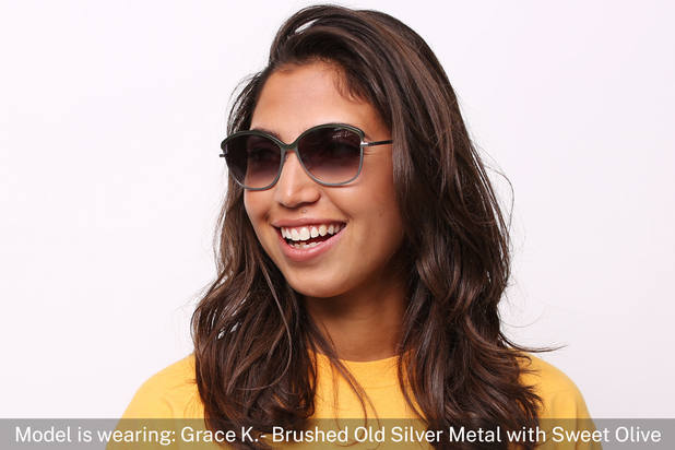 Grace K. | Light Gold Metal with Matt Moonlight Tortoise 8