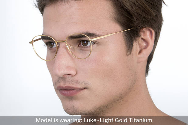 Luke | Light Gold Titanium 5