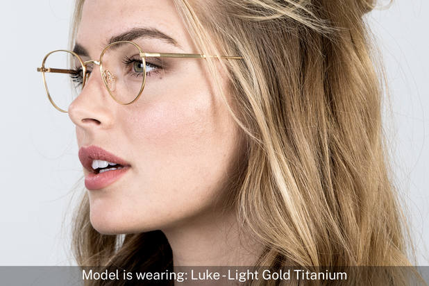 Luke | Light Gold Titanium 8