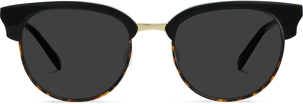 JFK | Light Gold Metal with Jet Black and Brown Havana