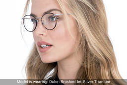 Duke | Brushed Jet Silver Titanium 8